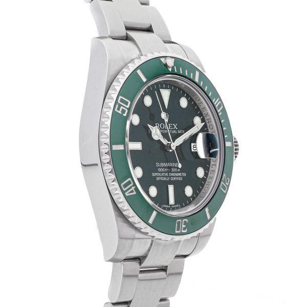 Men Green Replica Rolex Submariner Hulk 116610lv Stainless Steel