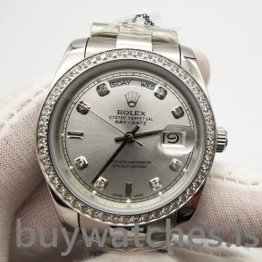 Rolex Day-date 118346 Gümüş Gri 36 mm Elmas Otomatik Saat