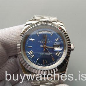 Rolex Day-Date 228239 Erkek 40mm Mavi 18kt Beyaz Altın Otomatik Saat