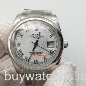 Rolex Datejust 16200 Gümüş Kadran 36 mm Paslanmaz Çelik Otomatik Saat