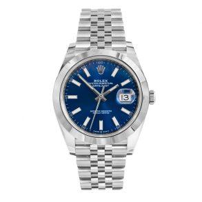 Rolex Datejust 126300 Erkekler 41mm Mavi Çelik Otomatik İzle
