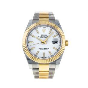 Rolex Datejust Oyster White Stk Asian 2813 Erkekler Beyaz Otomatik İzle