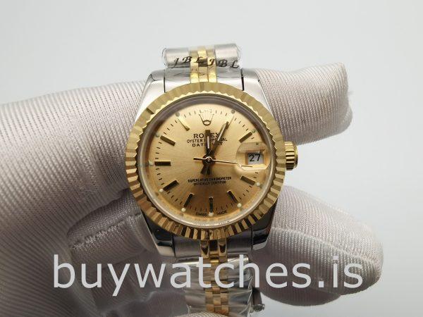 Rolex Datejust 179173 Bayanlar 26mm Altın Otomatik Paslanmaz Çelik Saat