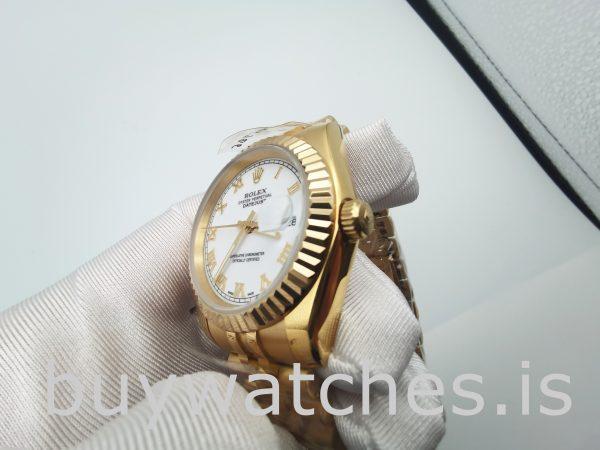 Rolex Datejust 126333 Erkek 41 mm Paslanmaz Çelik Beyaz Otomatik izle