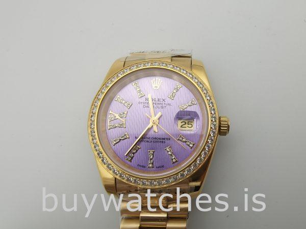 Rolex Datejust 278384 Bayan 31 mm Otomatik Mor Elmaslı Saat