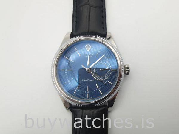 Rolex Cellini Date 50519 Erkek 39mm Çelik Mavi Otomatik İzle
