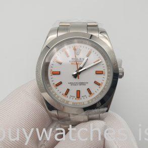 Rolex Milgauss 116400 Erkek 40mm Turuncu Çelik Otomatik İzle