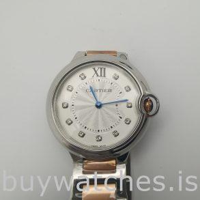 Cartier We902031 Ballon Bleu 36mm Çelik Gümüş Kadran Otomatik Saat