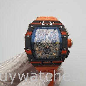 Richard Mille RM11-03 Unisex 44 mm Karbon Kasa Kauçuk Otomatik Saat