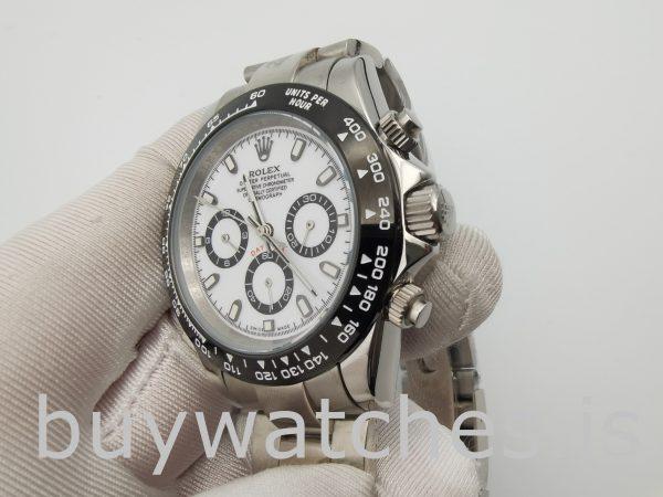 Rolex Daytona 116500 Erkek 40mm Beyaz Kadran Otomatik 4130 Saat