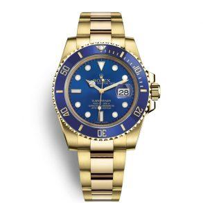 Rolex Submariner 116618LB Erkekler için 40 mm Mavi Kadranlı Otomatik Saat