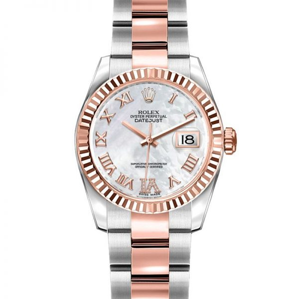 Rolex Datejust 179171 Lady Grey 26mm Çelik Rose Gold Otomatik Saat