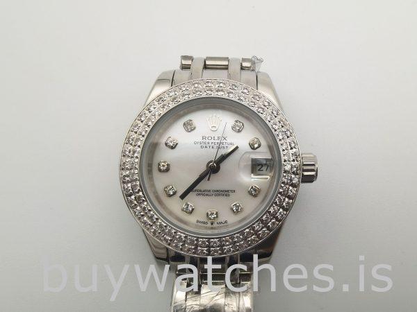 Rolex Datejust 81339 Beyaz Kadran 34mm Bayanlar 31 Mücevher Otomatik Saat