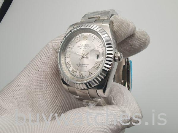 Rolex Datejust 4770 Beyaz Kadranlı Erkek 41mm Romen Rakamıyla Otomatik İzle