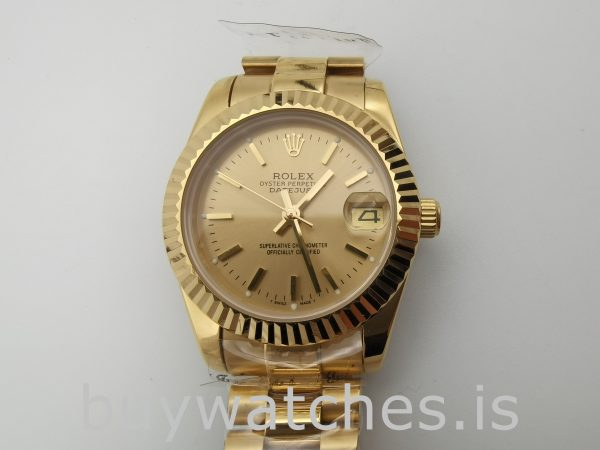 Rolex Datejust 68278 Şampanya Kadran Ladys 31mm Otomatik Saat