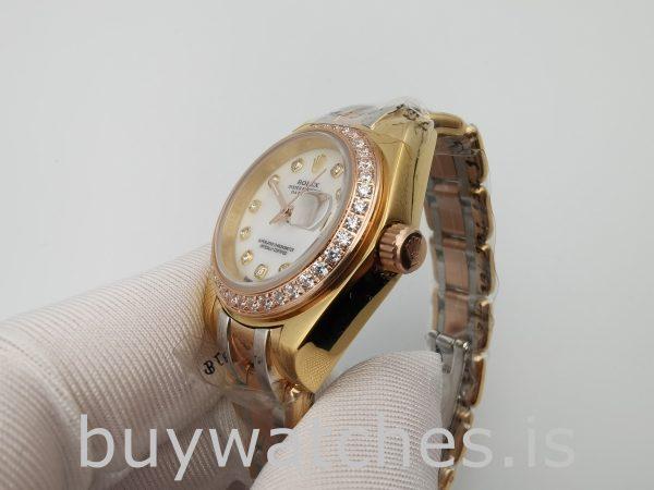 Rolex Datejust 80299 Bayanlar 18k Altın Otomatik 29mm Beyaz Kadranlı SaatRolex Datejust 80299 Bayanlar 18k Altın Otomatik 29mm Beyaz Kadranlı Saat