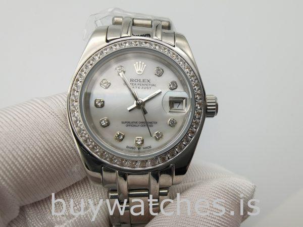Rolex Datejust 80299 Beyaz Altın Kadran Ladys 29mm Otomatik Saat