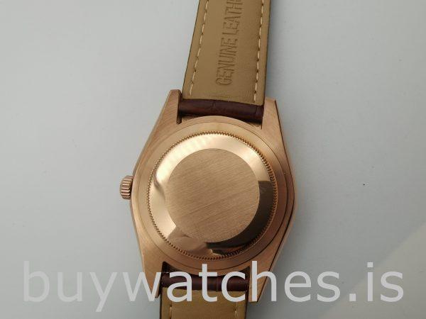 Rolex Sky-Dweller 326135 Beyaz 42mm Kahverengi Katı Otomatik Saat