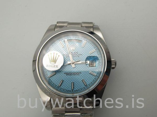 Rolex Day-Date Blue Stk Smth Erkek 40mm 3255 Otomatik Saat