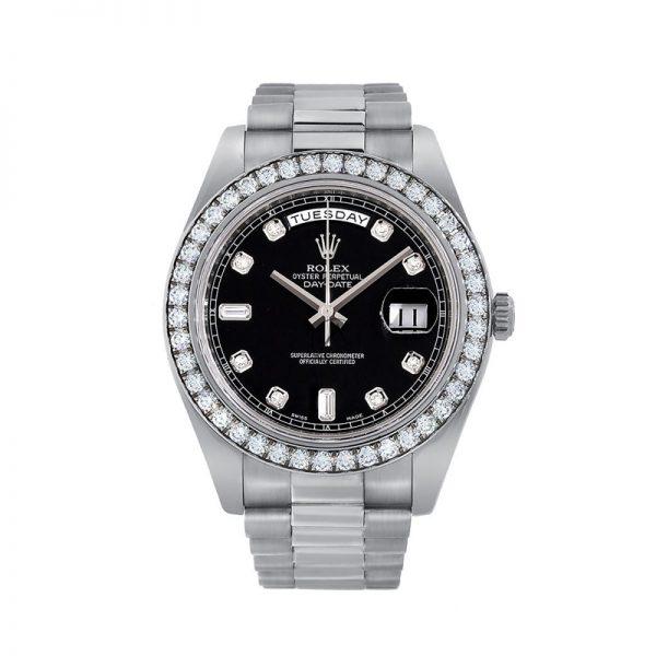 Rolex Day-Date 228349RBR Erkek 40mm Siyah Kadran Otomatik Saat