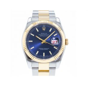 Rolex Datejust 116233 Erkek Mavi Kadran 36mm Otomatik 3135 Saat