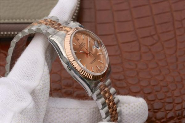 Rolex Datejust 116231 Replica Rose Gold Kadran Ladys 36mm Gümüş Saat