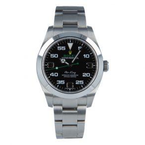 Rolex Air-King 116900 Replica Erkek 40mm Siyah Kadran Gümüş Çelik Saat